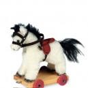 Pferd weiß auf Rädern